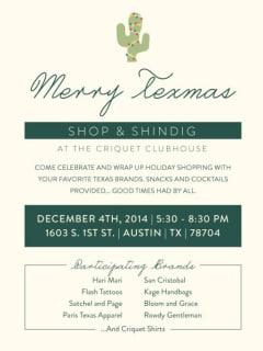 Criquet Shirts - Merry Texmas Shop & Shindig - December 2014