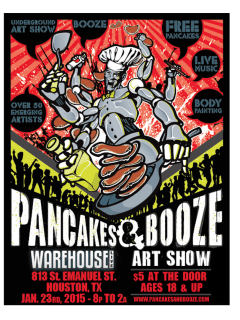 The Pancakes and Booze Art Show