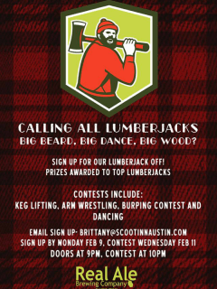 Lumberjack Off_Scoot Inn_Real Ale_February 2015