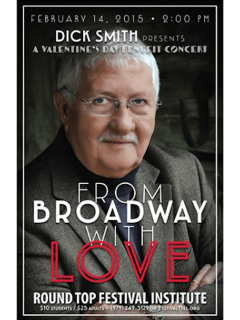 "Valentine's Day Concert with Dick Smith and Friends: ""From Broadway With Love"""