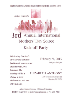 Third Annual International Mothers' Day Soiree Kick-off Party