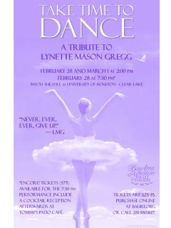 "Bay Area Houston Ballet & Theatre presents ""Take Time to Dance: A Tribute to Lynette Mason Gregg"""