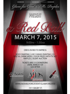 """""""Glam for Good: A Red Ball"""" benefiting AIDS Walk Houston"""