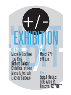 Art opening reception: +/- Exhibition