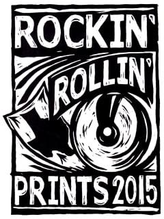 "PrintMatters hosts Fifth Annual ""Rockin' Rollin' Prints"" 2015"