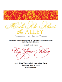 "2015 Alley Theatre Ball Late Night Party ""Up Your Alley"""
