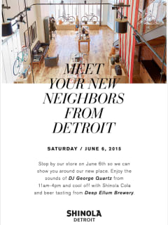 Shinola Presents Meet Your New Neighbors From Detroit