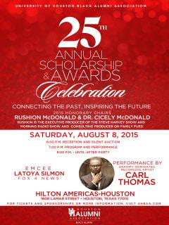 University of Houston Black Alumni Association presents The 25th Annual Awards & Scholarship Celebration