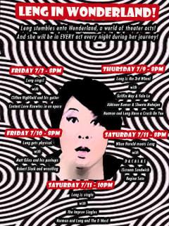 Leng Wong LuckyChaos Theater Leng in Wonderland 2015