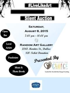 LiveLikeArt Fundraiser & Silent Auction