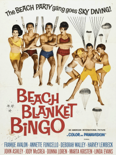 Beack Blanket Bingo movie Frankie Avalon 1965 poster CROPPED