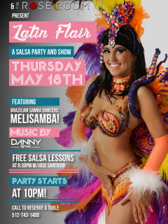 The Rose Room presents Latin Flair: A Salsa Party and Show