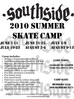 News_summer camps_Southside Skate Camp_announcement