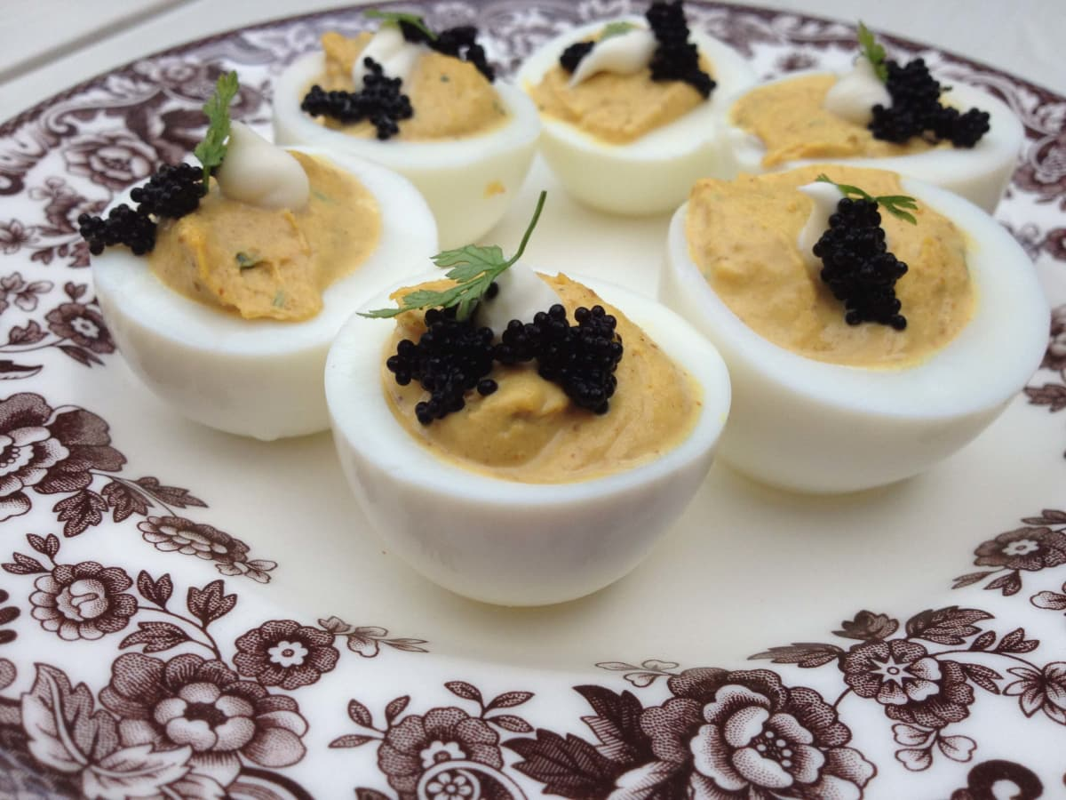 Deviled eggs at Sissy's Southern Kitchen & Bar in Dallas