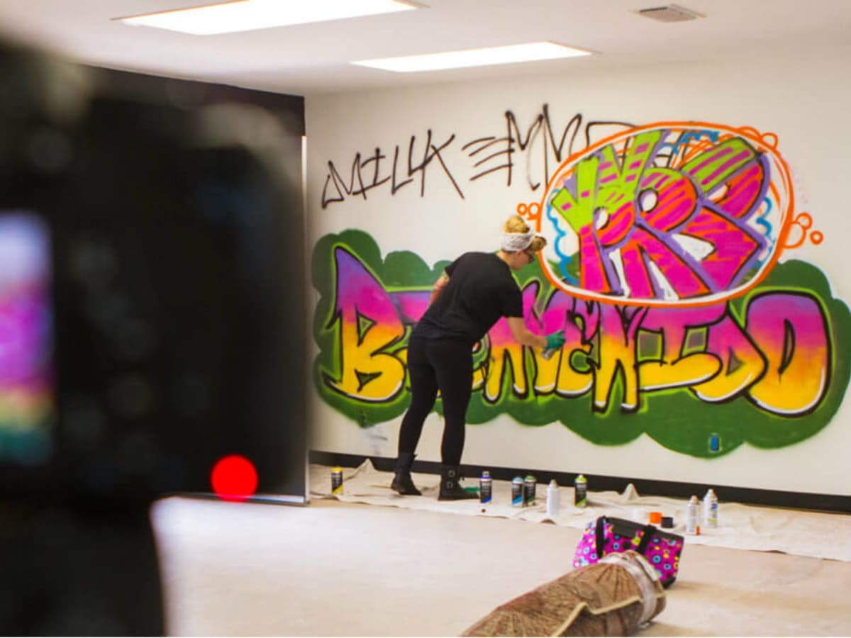 Graffiti workshop at Creating in Cahoots in McKinney