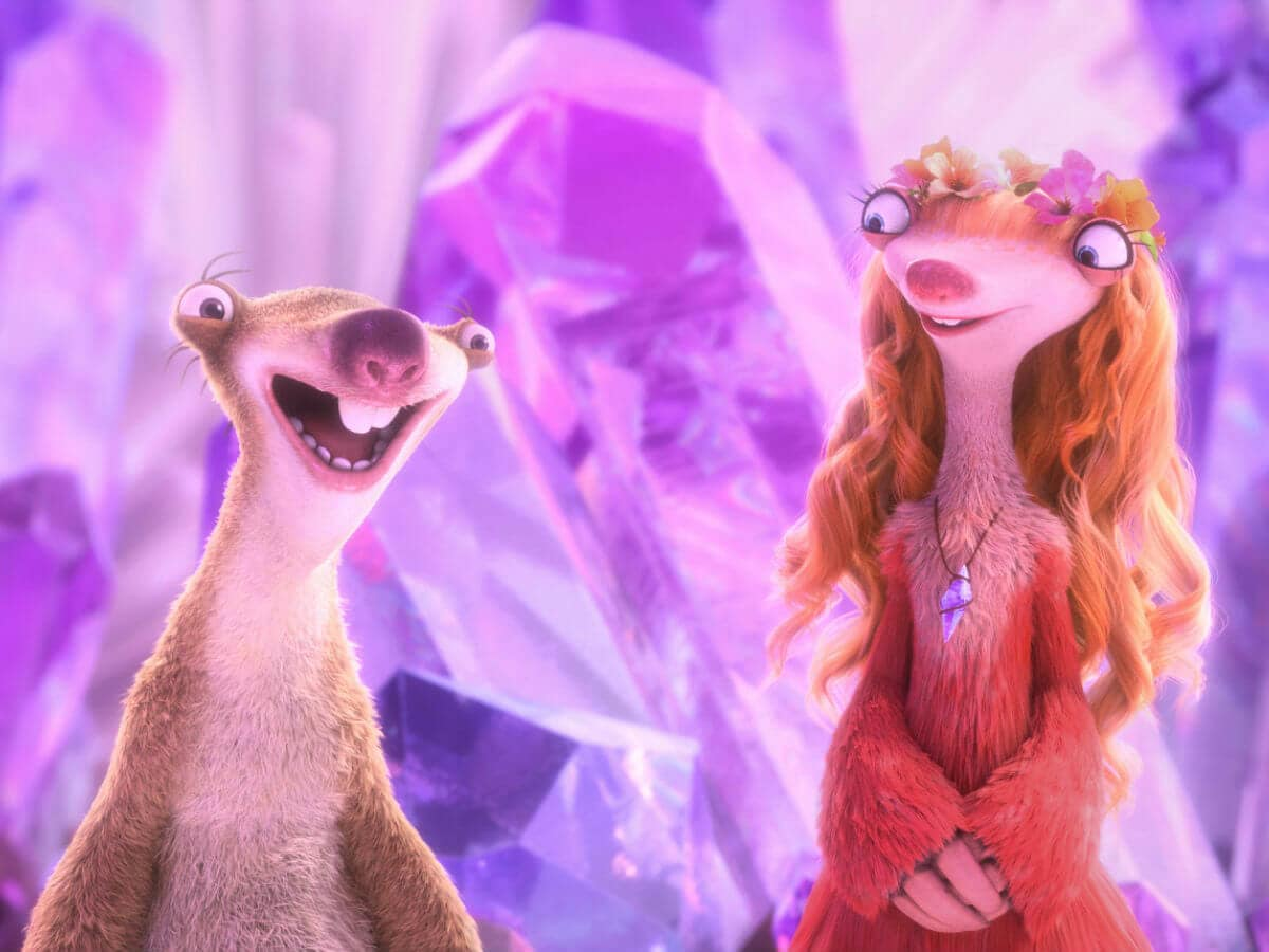 Sid and Brooke in Ice Age: Collision Course