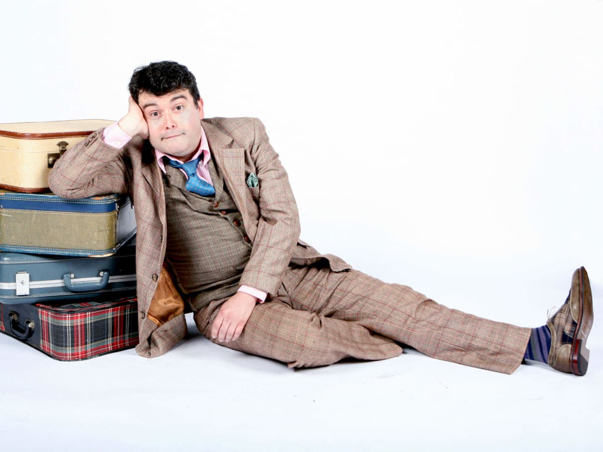 Brian Gonzales in WaterTower Theatre's One Man, Two Guvnors