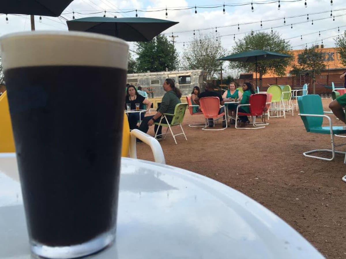 Burleson Yard Beer Garden craft beer glass patio