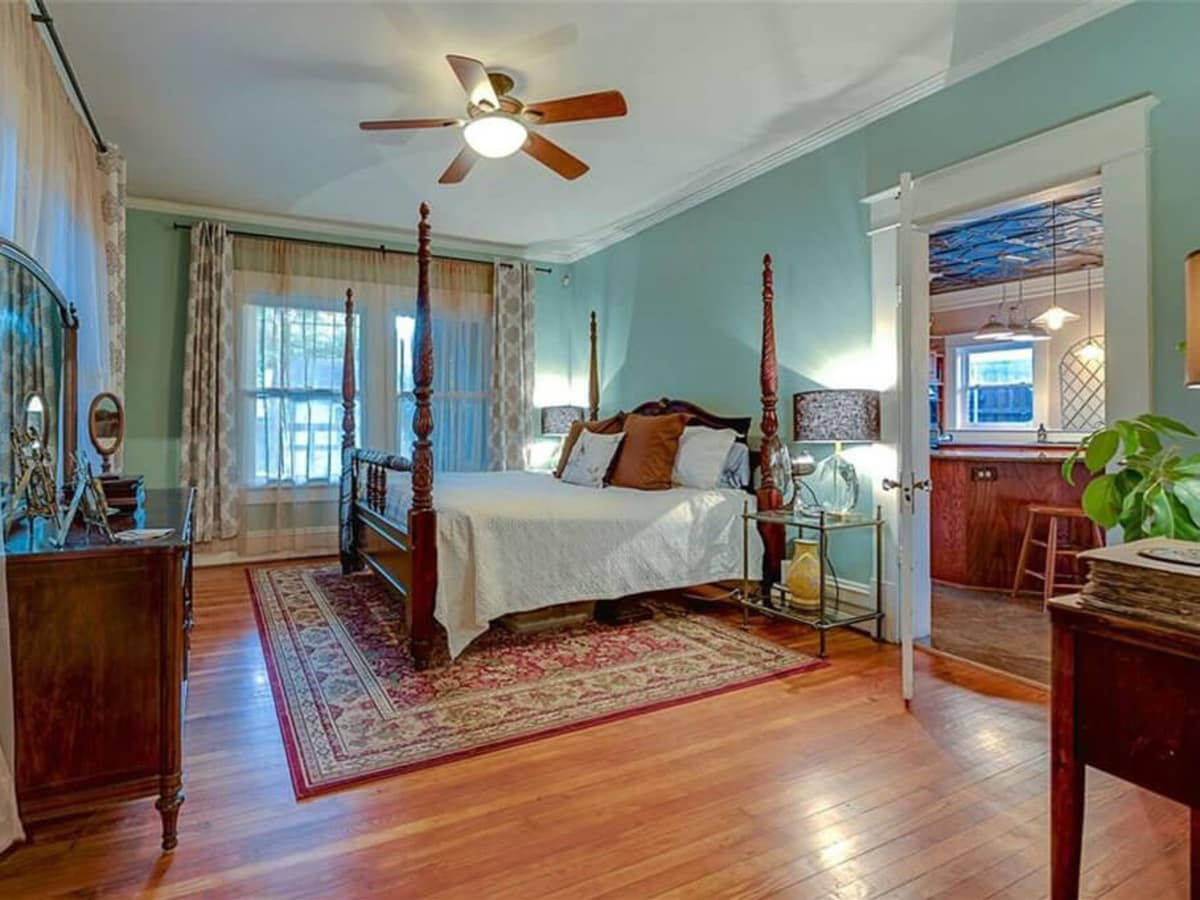 Master bedroom at 701 S. Clinton Ave. in Oak Cliff
