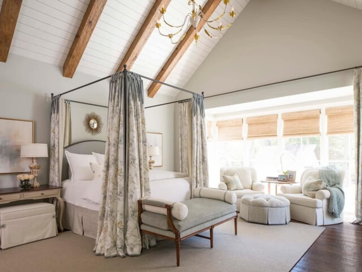 Houzz Dallas house home Alexander Drive stress-free style master bedroom
