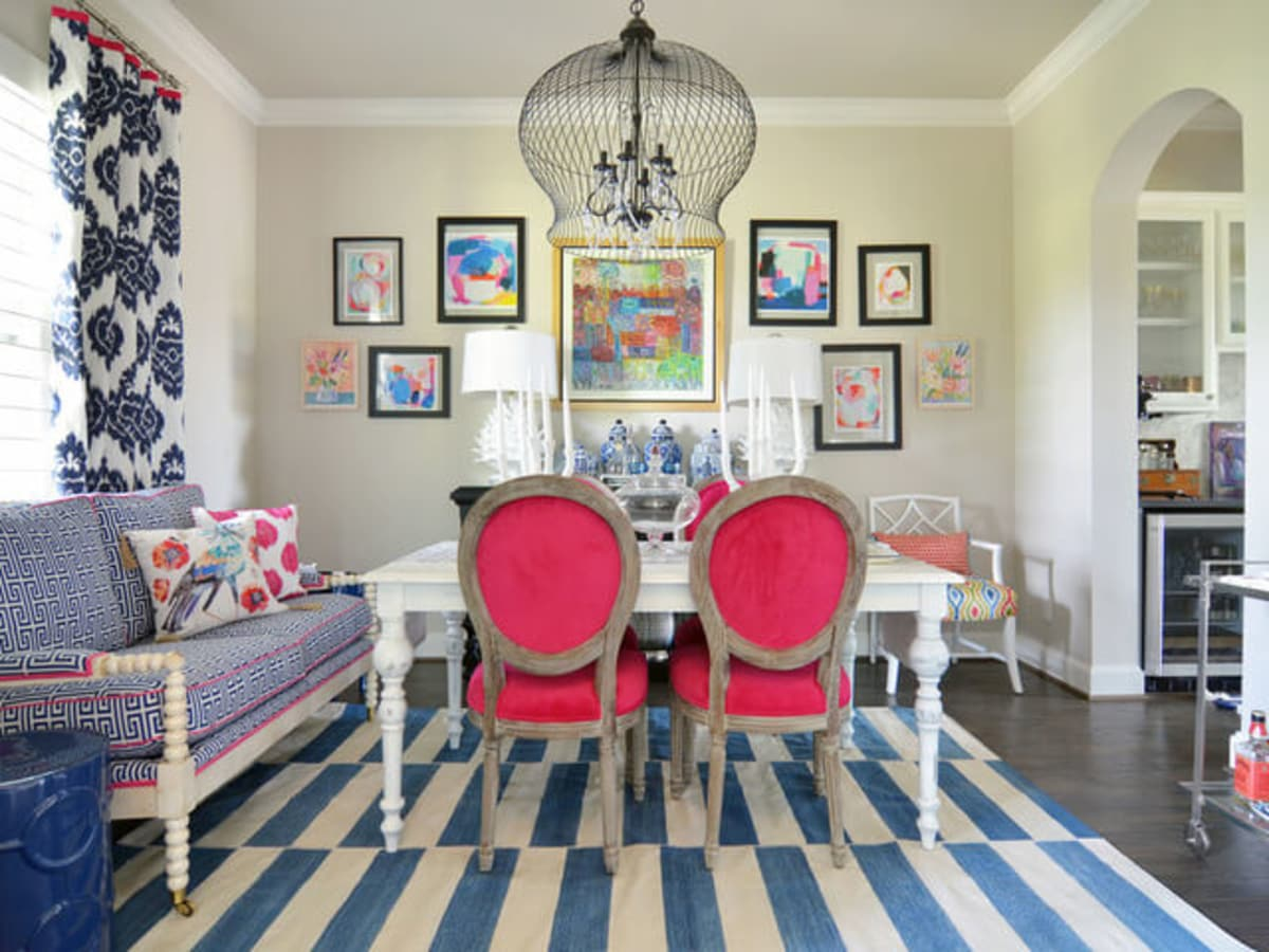 Exceptionnel Houzz Forth Worth House Home Color Happy Country Living Dining Room