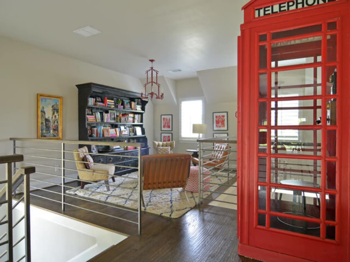 Houzz Forth Worth House Home Color Happy Country Living Family Room