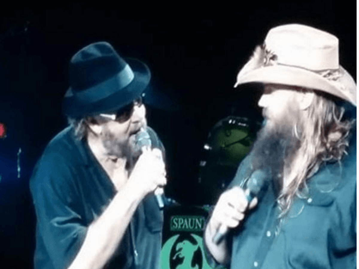 Hank Williams Jr., Chris Stapleton, Aug. 2016, The Woodlands