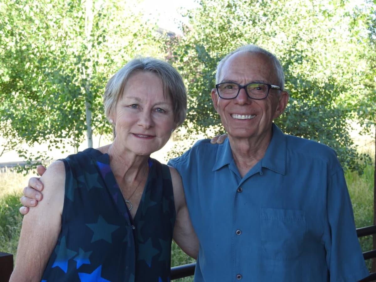 Host for Promontory party Jane Howze and John Mann