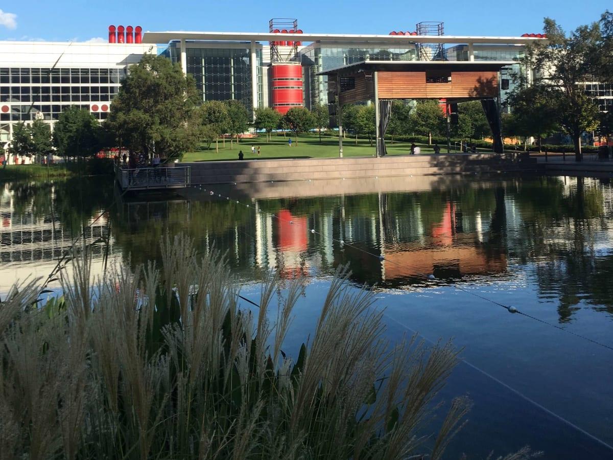 George R. Brown Convention Center and lake, 8/16