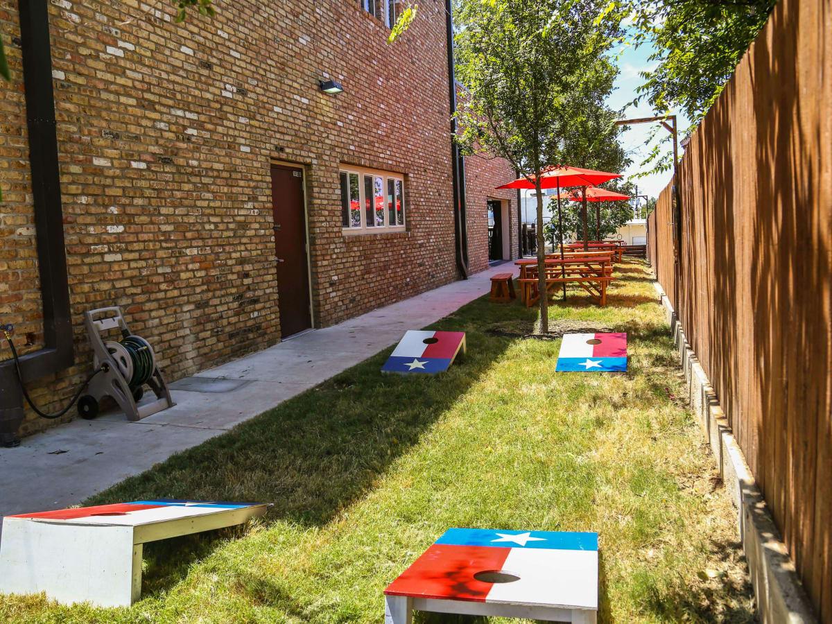 Revelry Kitchen + Bar side yard games