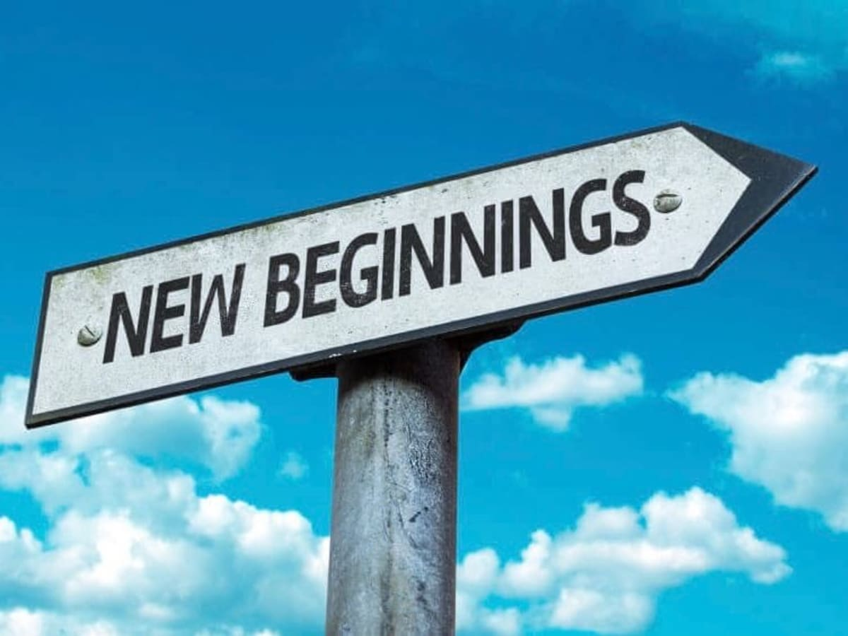 New beginnings sobriety sign