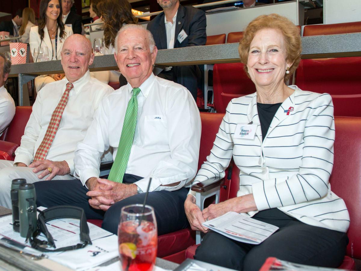 Houston Texans season opener, 9/26 Bob McNair, James A. Baker III, Susan Baker