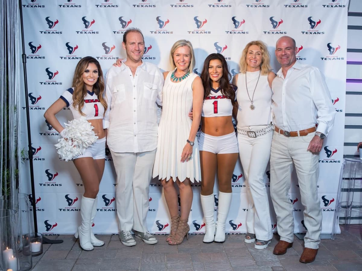 Loya Texans White Out party, 9/16 Aj Brass, Katie Brass, Amy Murchison, Hardy Murchison