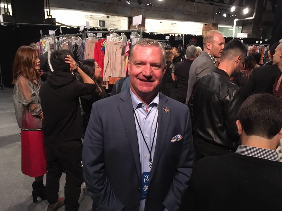 Mike Waterman Visit Houston CEO at Vivienne Tam show