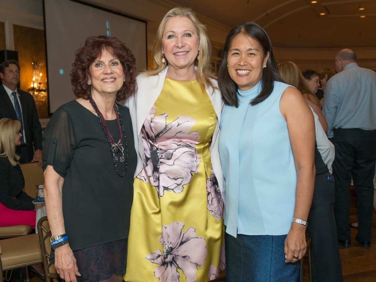 Mission to Mars luncheon 9/16, Donna Vallone, Carol Linn, Grace Kim