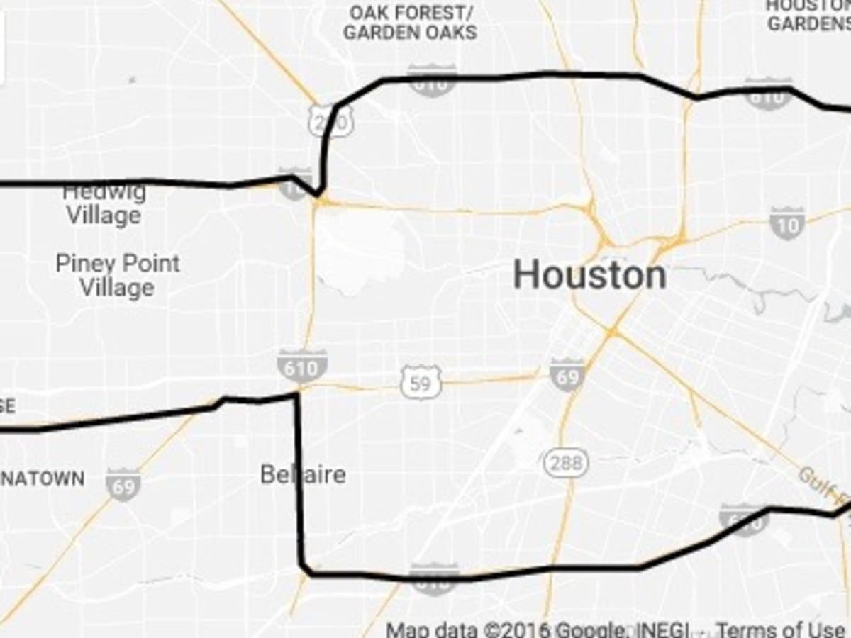 Map of Uber Flat Fares in Houston