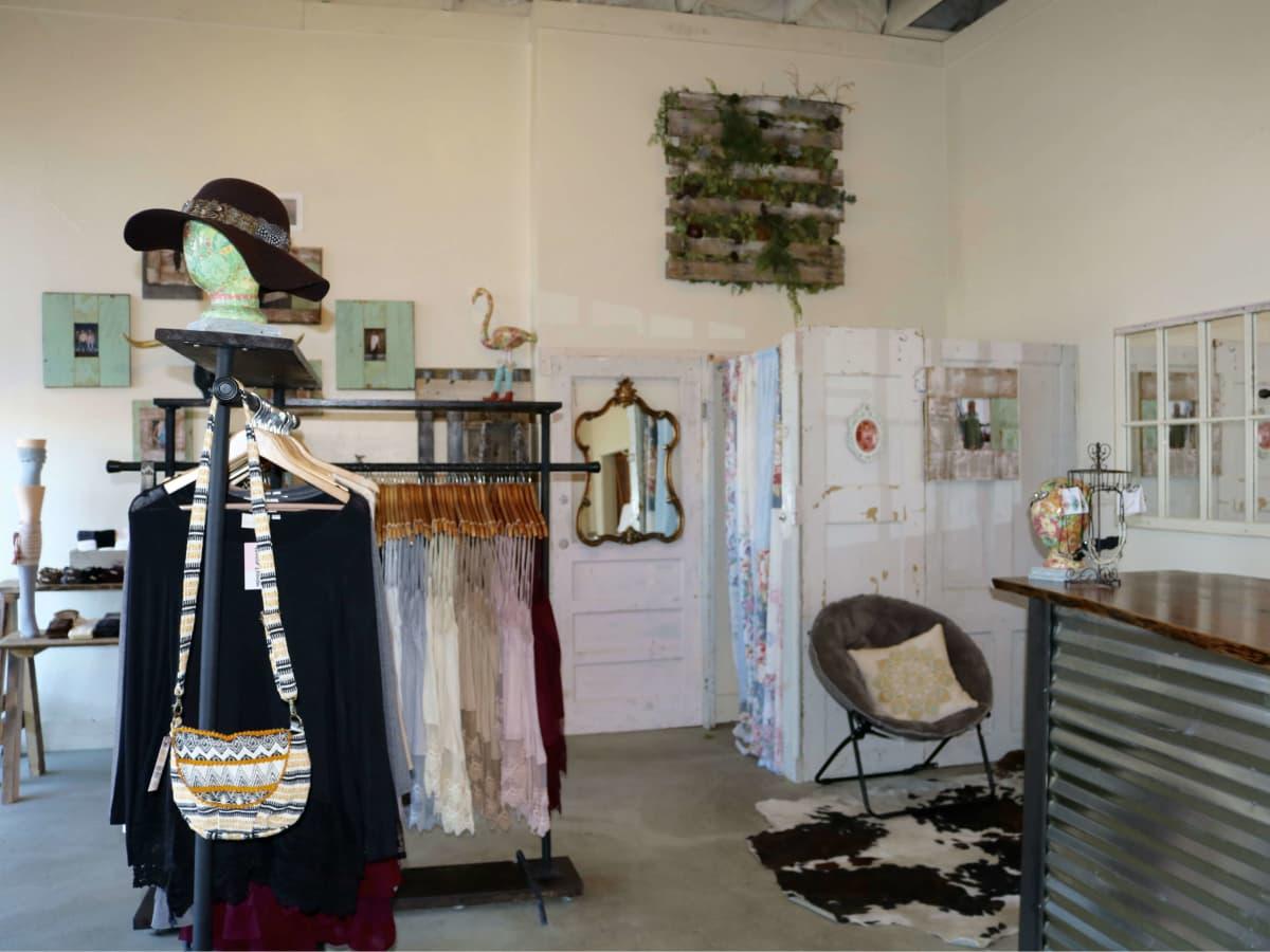 Interior of Winter Lennon storefront in Oak Cliff