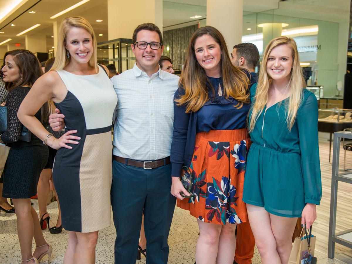 Angie Jones, Nick Becraft, Kathleen Perley, Kelli Krenik at CultureMap Houston Social Top Texans