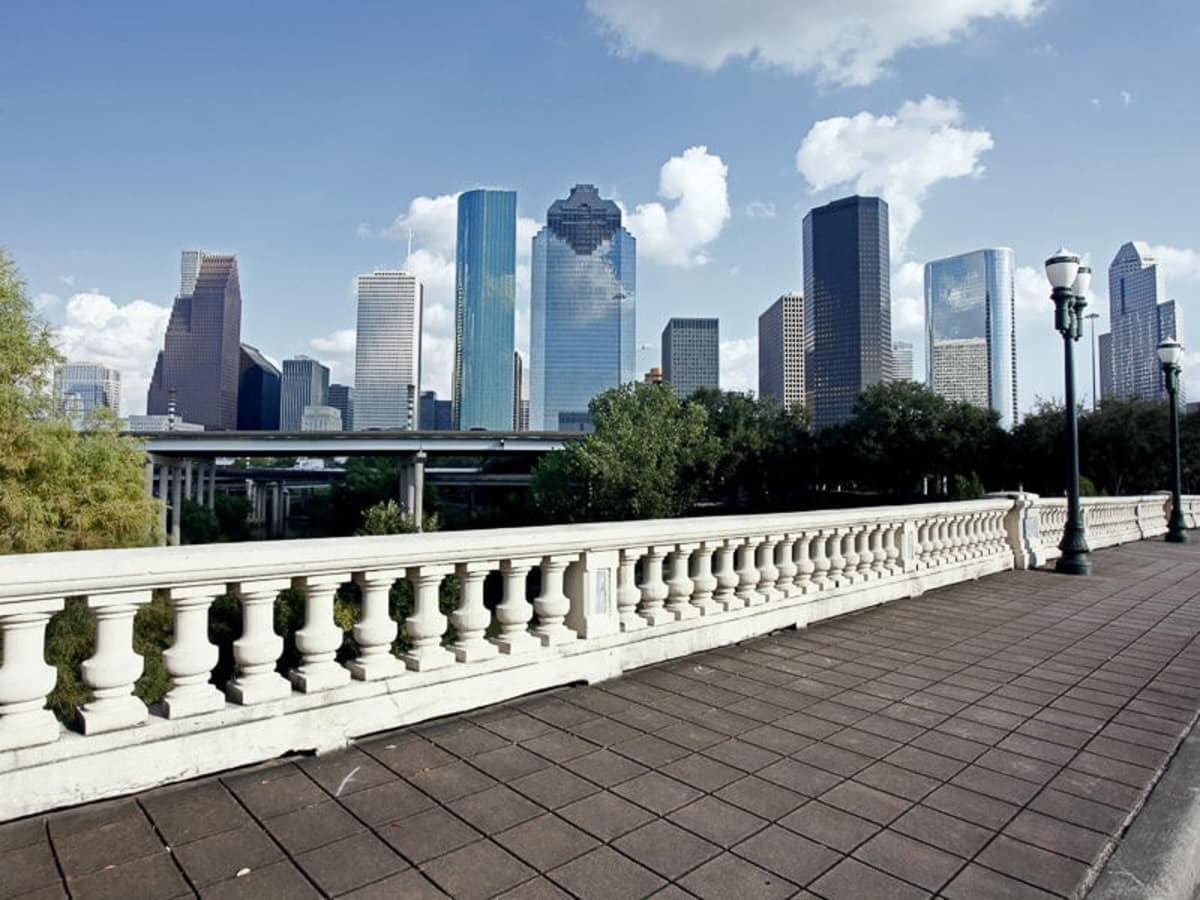 Houston skyline downtown day