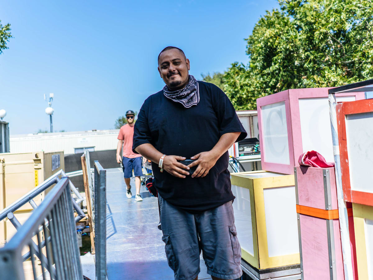 ACL Austin City Limits Music Festival 2016 stage hand Eddie