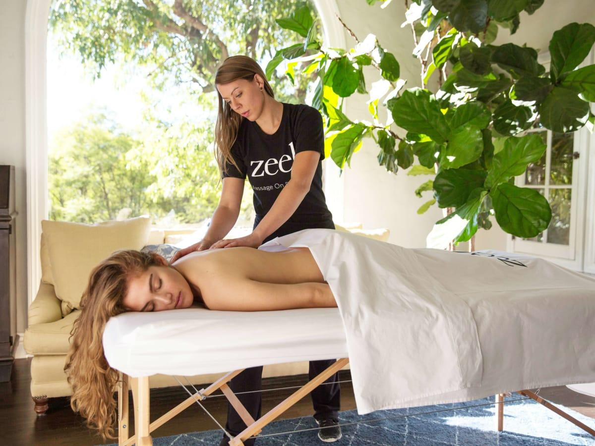 Zeel massage on demand app therapist in home