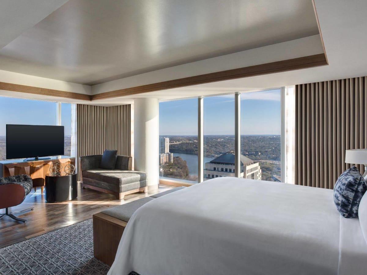 JW Marriott Austin hotel room downtown view