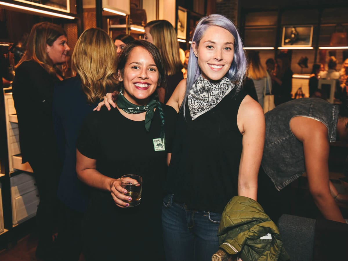 The Frye Company Austin grand opening 2016 Coco Vargas Gretchen Goswitz
