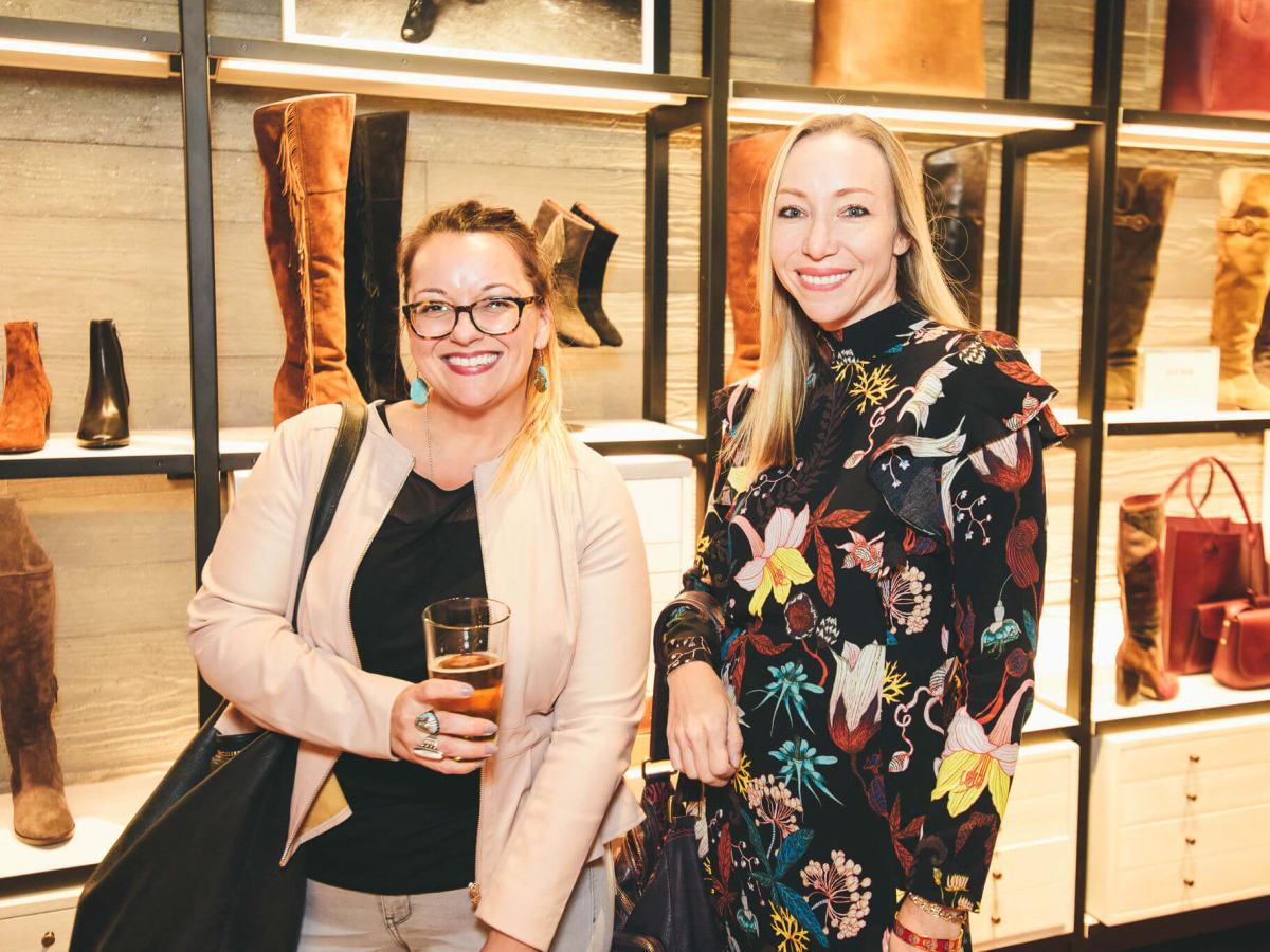The Frye Company Austin grand opening 2016 Lisa Munoz Niki Jones