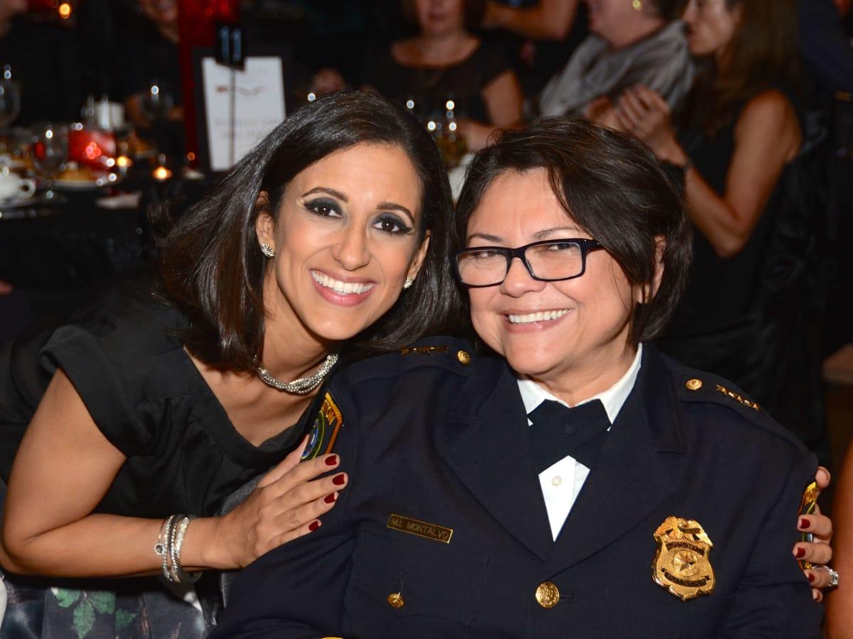 Houston, Crime Stoppers of Houston gala, Nov. 2016, Rania Mankarious, Houston Police Department Acting Chief Martha Montalvo