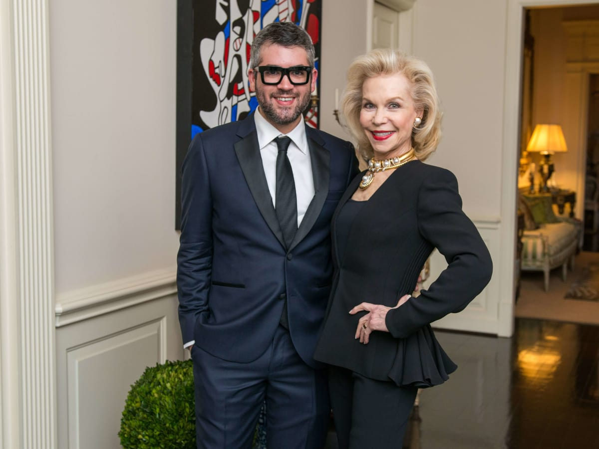 Lynn Wyatt, Brandon Maxwell at Wyatt dinner