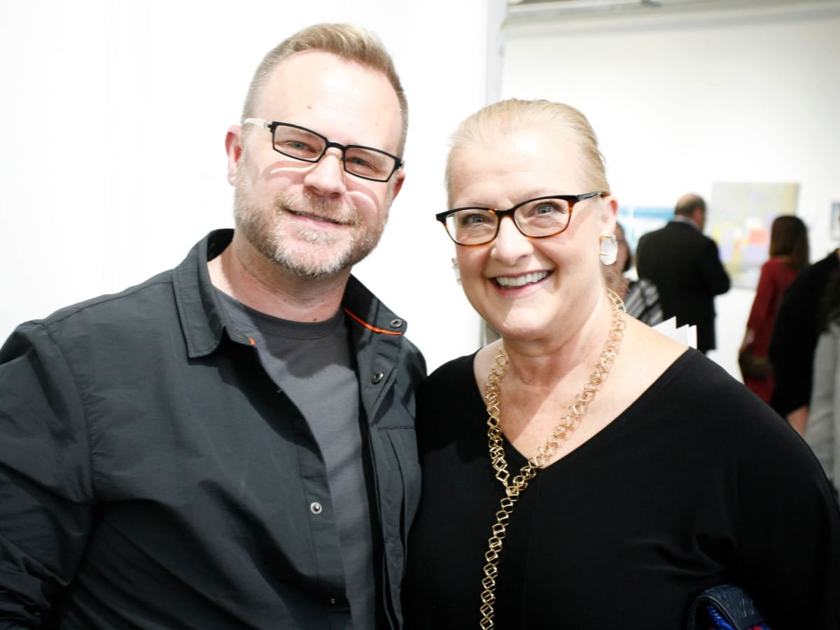 Steven Wagner and Sue Payne at Art on the Avenue Preview Party