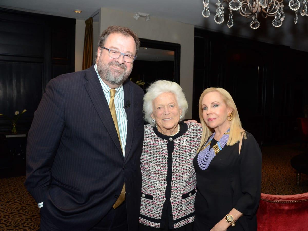 Houston, Children at Risk Accolades luncheon, Nov. 2016, Dr. Bob Sanborn, Barbara Bush, Carolyn Farb