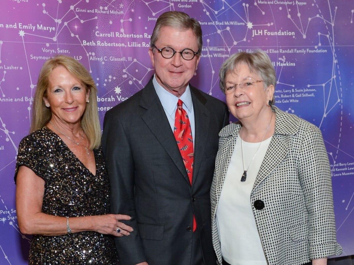 Kathy O'Neil, Phil Ferguson, Kathrine McGovern at UTHealth Constellation Gala