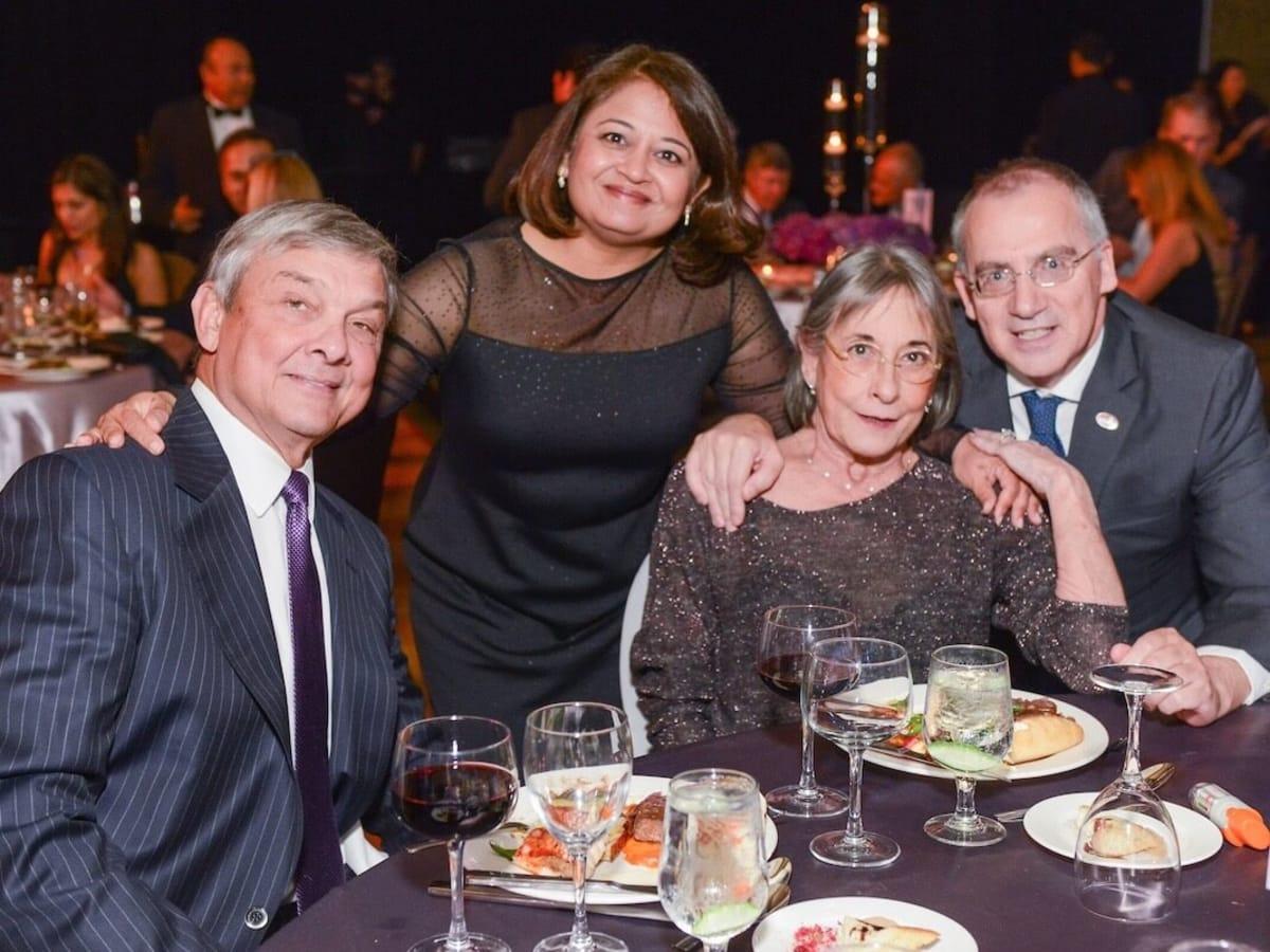 Bob Graham, Dr. Bela Patel, Annie Graham, Giuseppe Colasurdo at UTHealth Constellation Gala